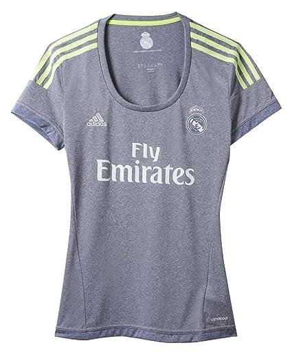 Adidas 2ª Equipación Real Madrid CF - Camiseta Oficial Mujer, Talla 2XS