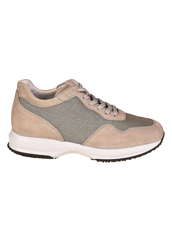 Hogan メンズ HXM00N0AI4067AU014 ベージュ セーム 運動靴 B07DMPTQPY