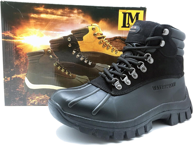 LM Men Waterproof Rubber Sole Winter Snow Boots Work Boots 7014