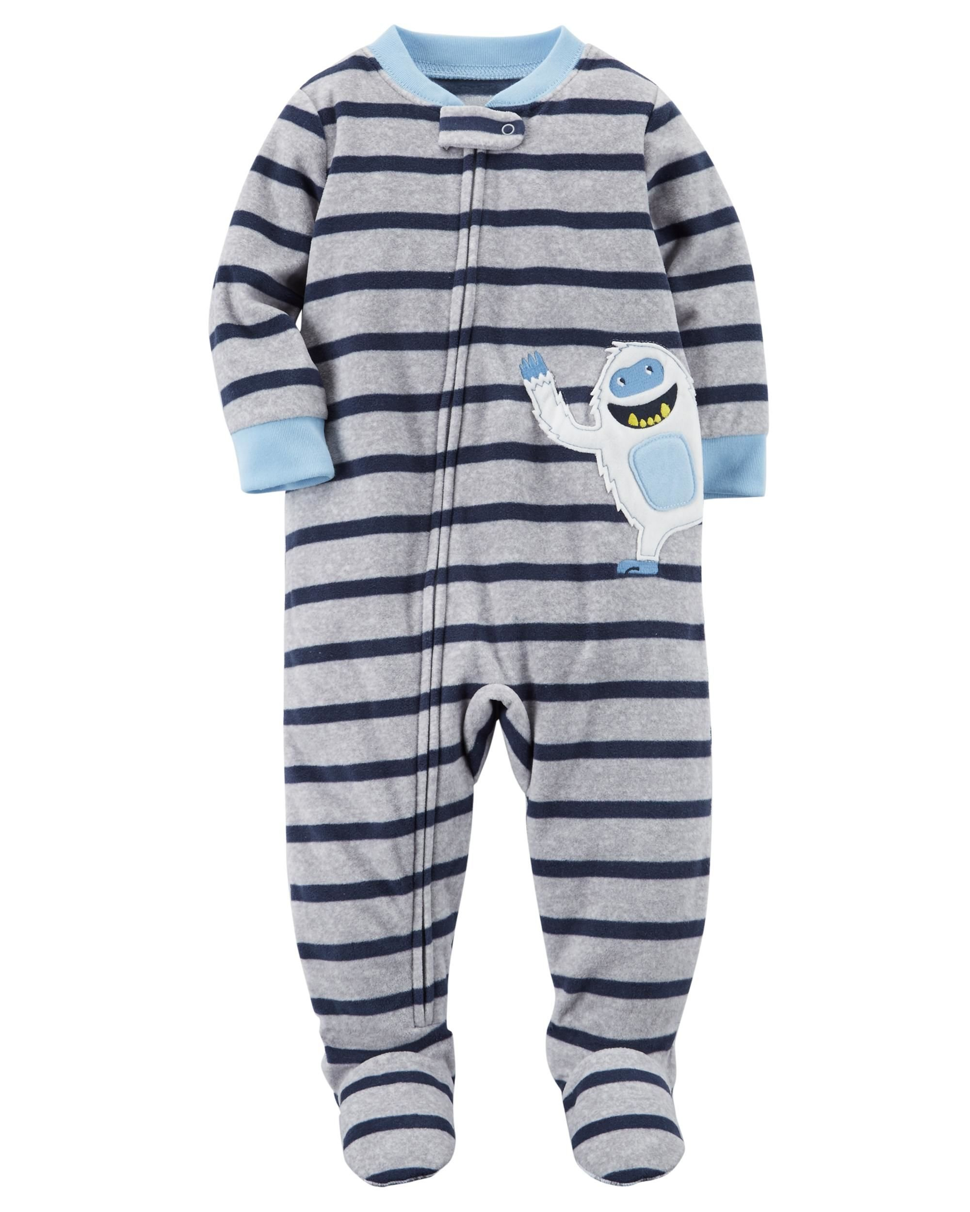 e2cad768e0f9 Galleon - Carter s Baby Boys  12M-14 One Piece Yeti Fleece Pajamas ...