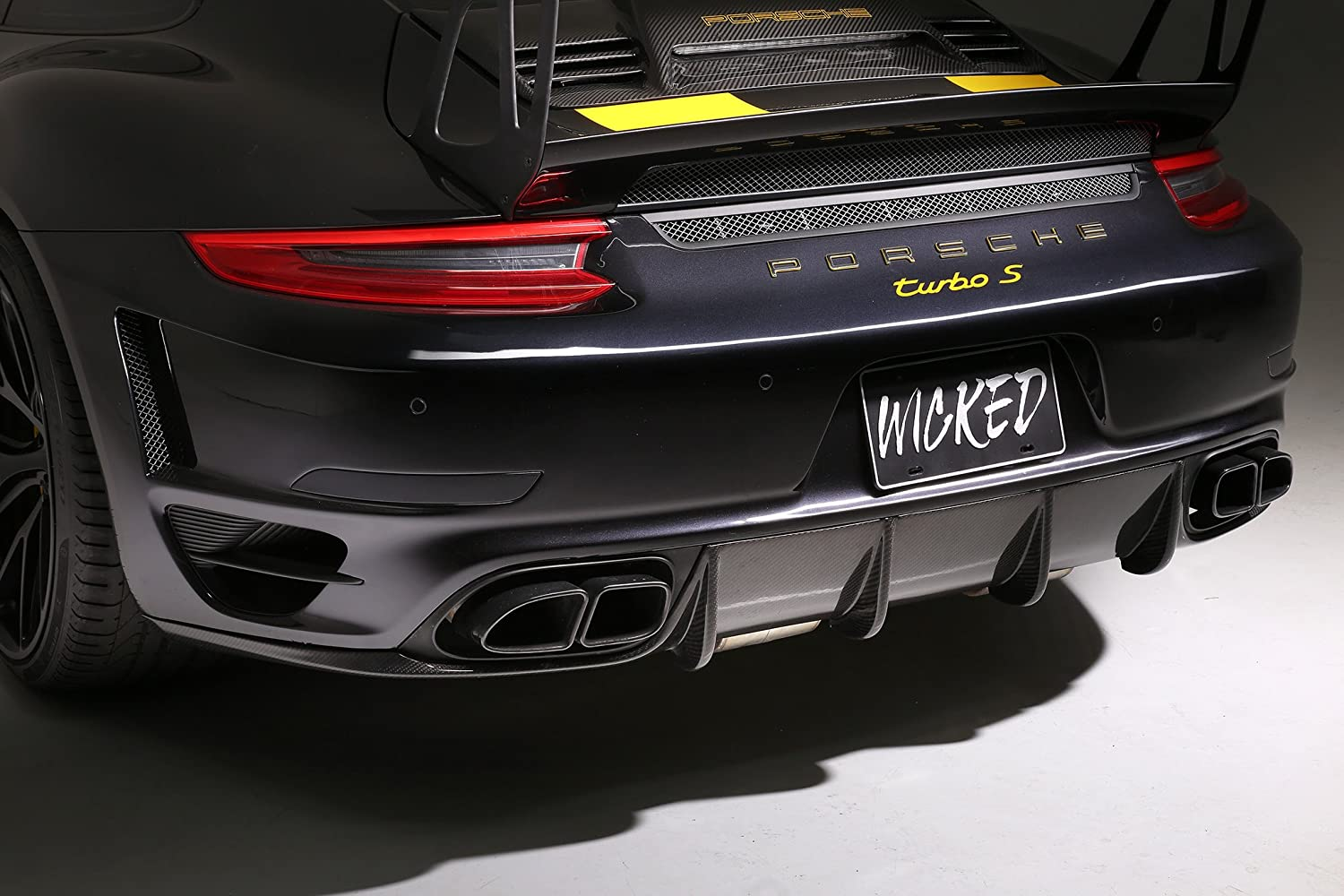 Amazon.com: Porsche 991.2 Turbo & 991 Turbo S Carbon Fiber Diffuser: Automotive
