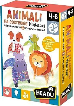 HEADU Animali da costruire Montessori 4-8 Años Juego Para niños: Amazon.es: Juguetes y juegos