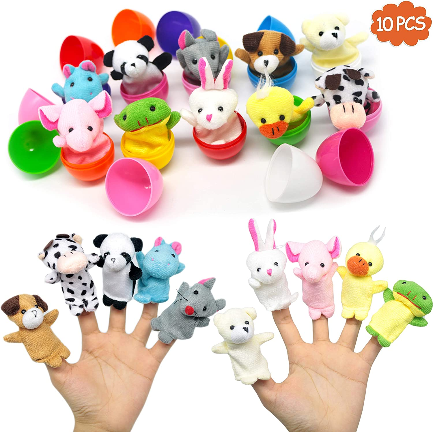 Happy Easter Bunny Kids Gift Variety of Candy Stuffers and Plush Toy 7 Inch
