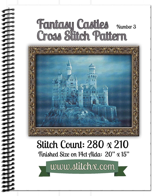 Fantasy Castle #3 Cross Stitch Pattern Spiral Bound Book