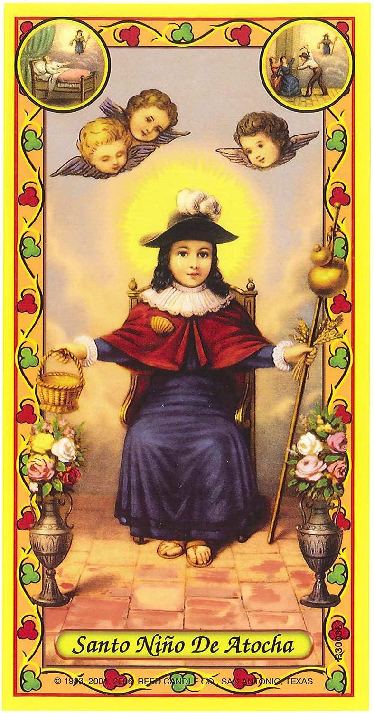 Nino de Atocha Religous Prayer Candle Nino de Atocha Novena Vigil Candle White Wax