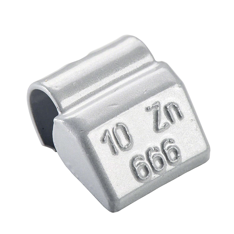 100x Pesos de ruedas Tipo666 20g Pesos de equilibrado para llantas aluminio Peso impacto para equilibrado tira rueda