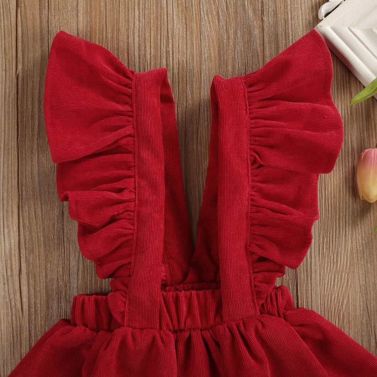 6M-5T BERTY Baby Girl Tutu Dress Suspender Skirt Sleeveless Backless Ruffle Skirt