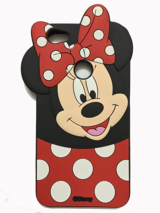 best sneakers ef2aa b68db Hola online 3D Design Minnie Rubber Back Cover for Redmi Y1(Multicolour)