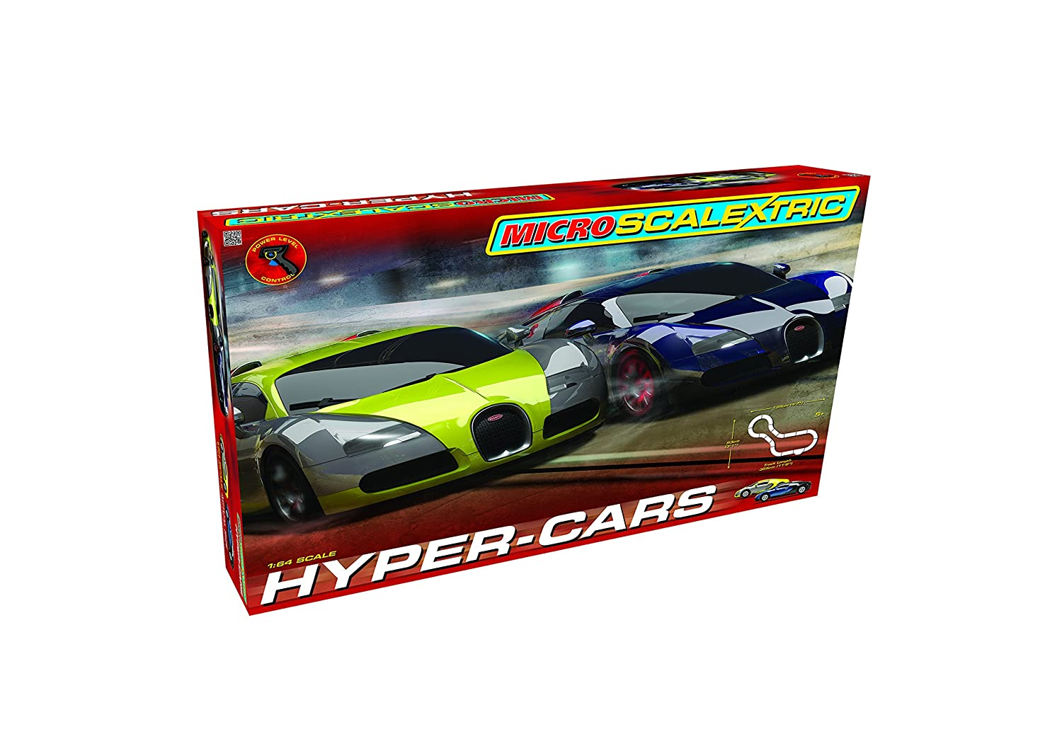 amazon com scalextric micro hyper cars race set 1 64 scale