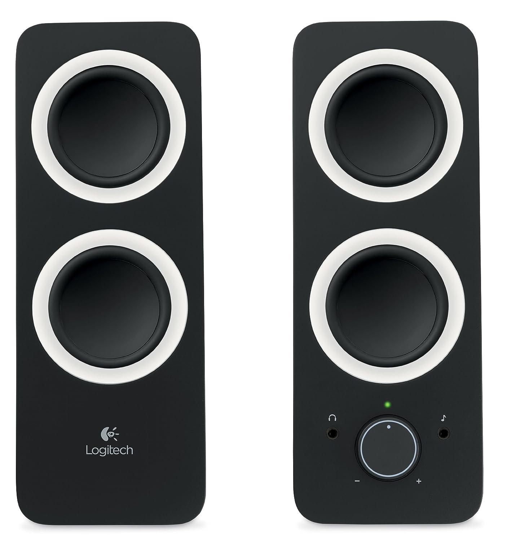 Logitech 980 000012 s120 2 piece black desktop computer speaker set - Amazon Com Z200 With Stereo Sound For Multiple Devices Black Computers Accessories