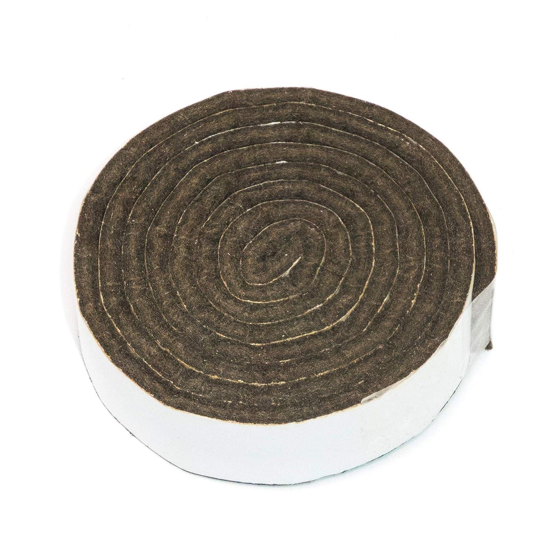 Adsamm® | selbstklebendes Filzband zum Zuschneiden | 19x1000 mm | Grau | rechteckig | 3.5 mm starker selbstklebender Filzzuschnitt in Top-Qualität von Adsamm®