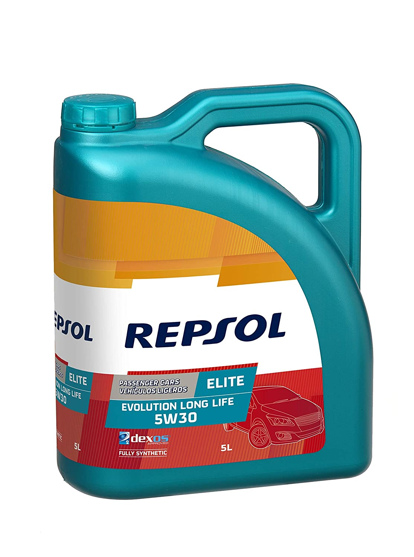 Repsol RP141Q55 Elite Evolution Long Life 5W-30 Aceite de Motor para Coche, 5 L