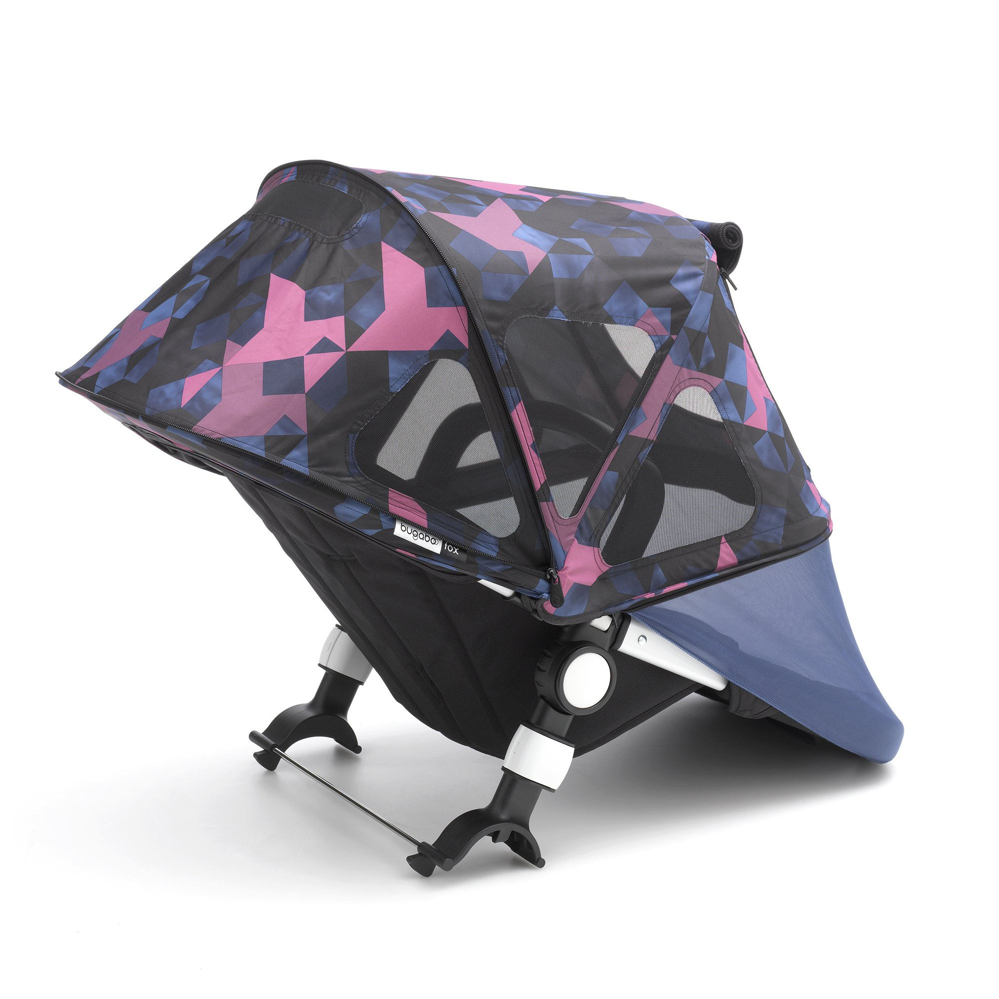Bugaboo Fox And Cameleon3 Breezy Sun Canopy, Birds Print - Extendable Sun Canopy with UPF Sun Protection and Mesh Ventilation Panels