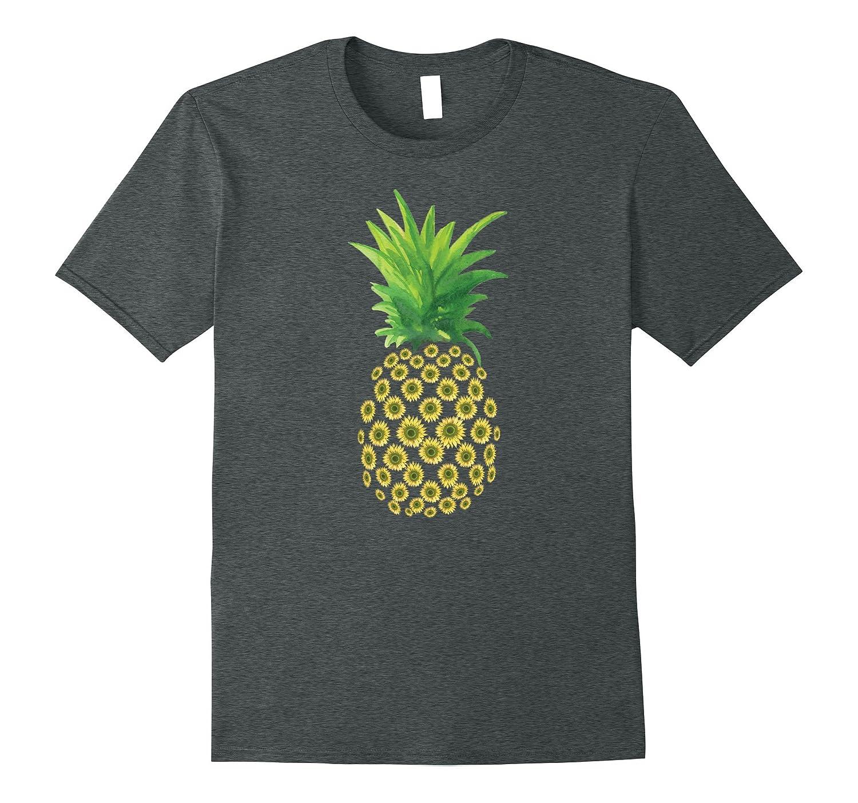Aloha Summer Pineapple Boho Floral Daisy Design T-Shirt-Vaci