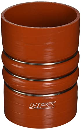 HPS CAC-275-L75-HOT Silicone High Temperature 4-ply Aramid Reinforced Charge Air Cooler CAC Hose Hot Side 7.5 Length Orange 7.5 Length 2.75 ID HPS Silicone Hoses 2.75 ID 100 PSI Maximum Pressure