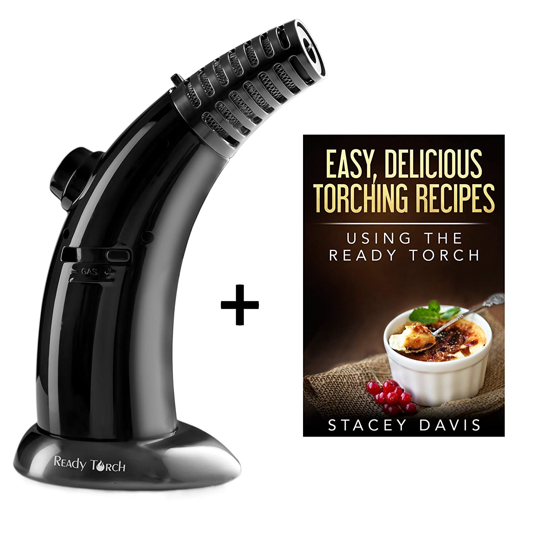 readitools Creme Brulee resistente al calor culinarias butano listo linterna, Dual llamas con eBook de recetas: Amazon.es: Hogar