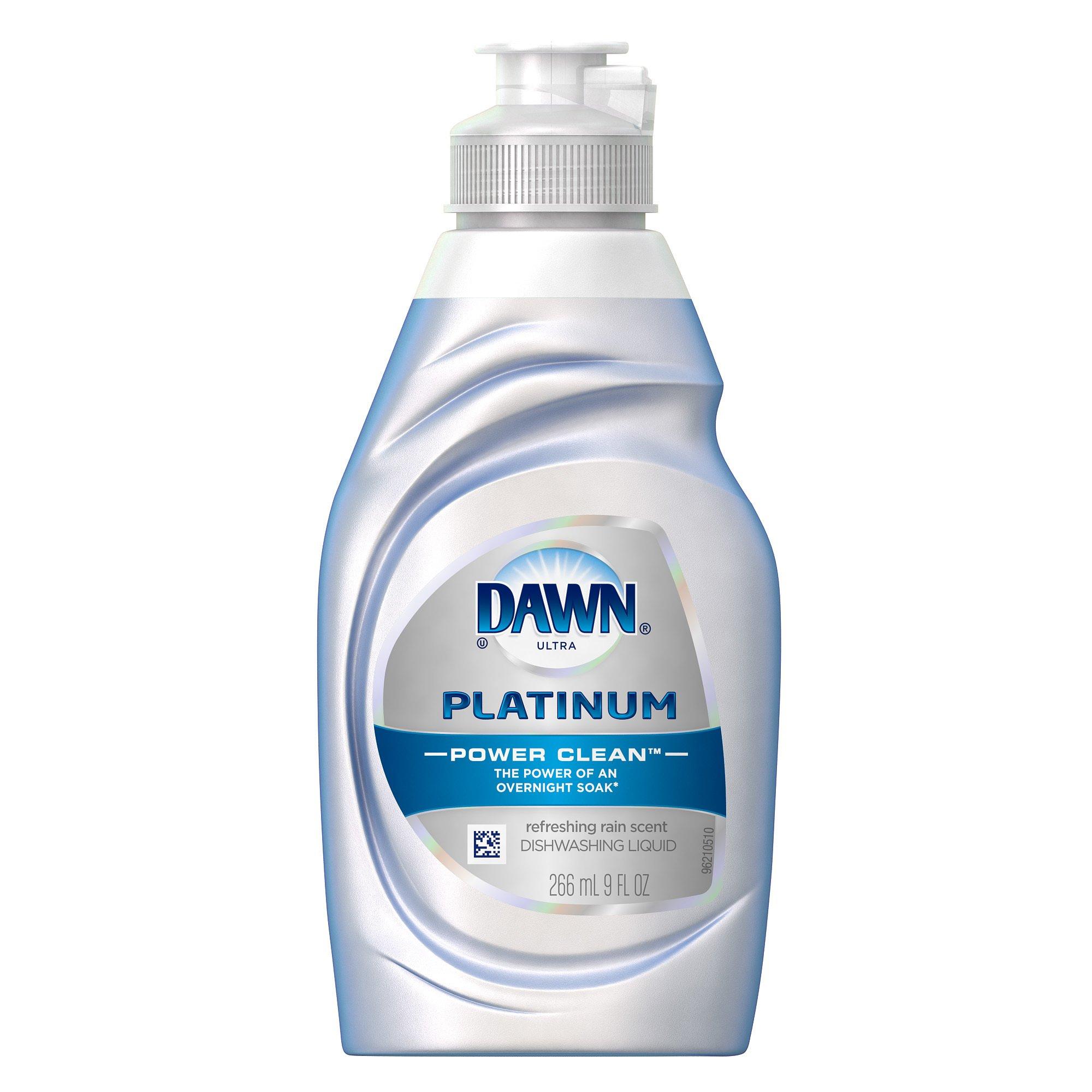 Dawn Ultra Power Clean, Refreshing Rain Scent, Dishwashing Liquid, 9 Fluid Ounce (Pack of 18)