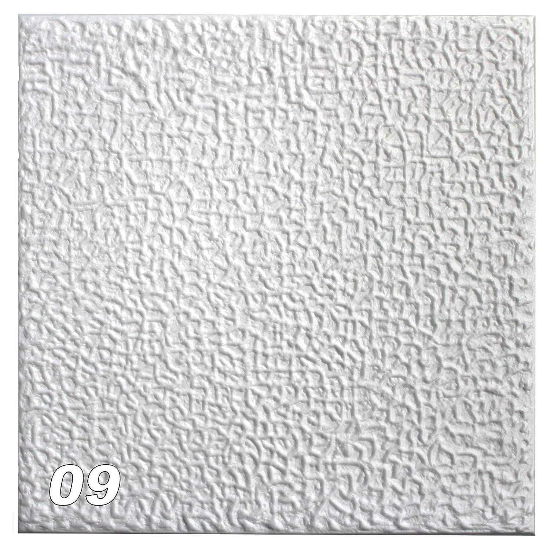 1 M2 per soffitto Pannelli di polistirolo Bloccato Soffitto Decorazione Piastre 50 x 50 cm, N. 09 HEXIM