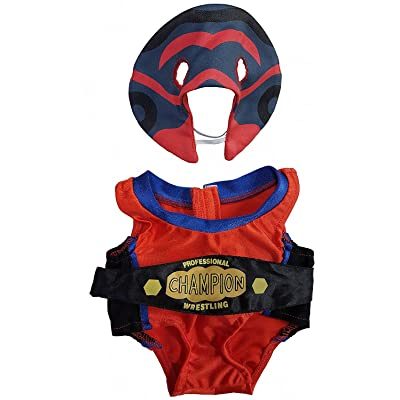 "Wrestling Costume Fits Most 14"" - 18"" Build-a-Bear and Make Your Own Stuffed Animals: Toys & Games"