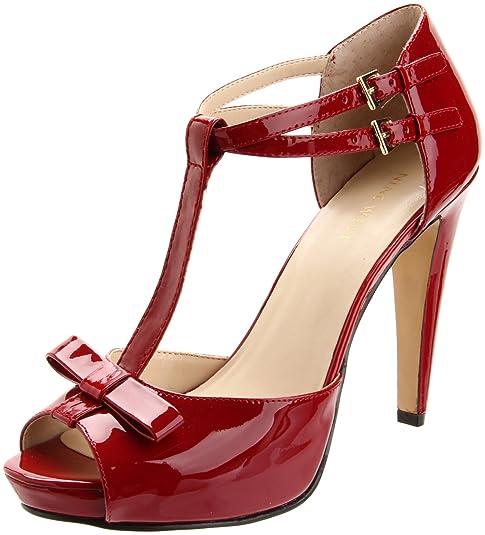Zapatos Vestir Para De West Nine Cuero Rojo Mujer Commandar EwzAI4q
