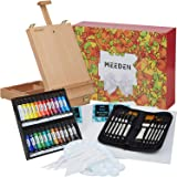 MEEDEN 47-Pcs Acrylic Painting Set- Acrylic Painting Kit with Beechwood Tabletop Easel, 24×12ML Acrylic Paints, 12…