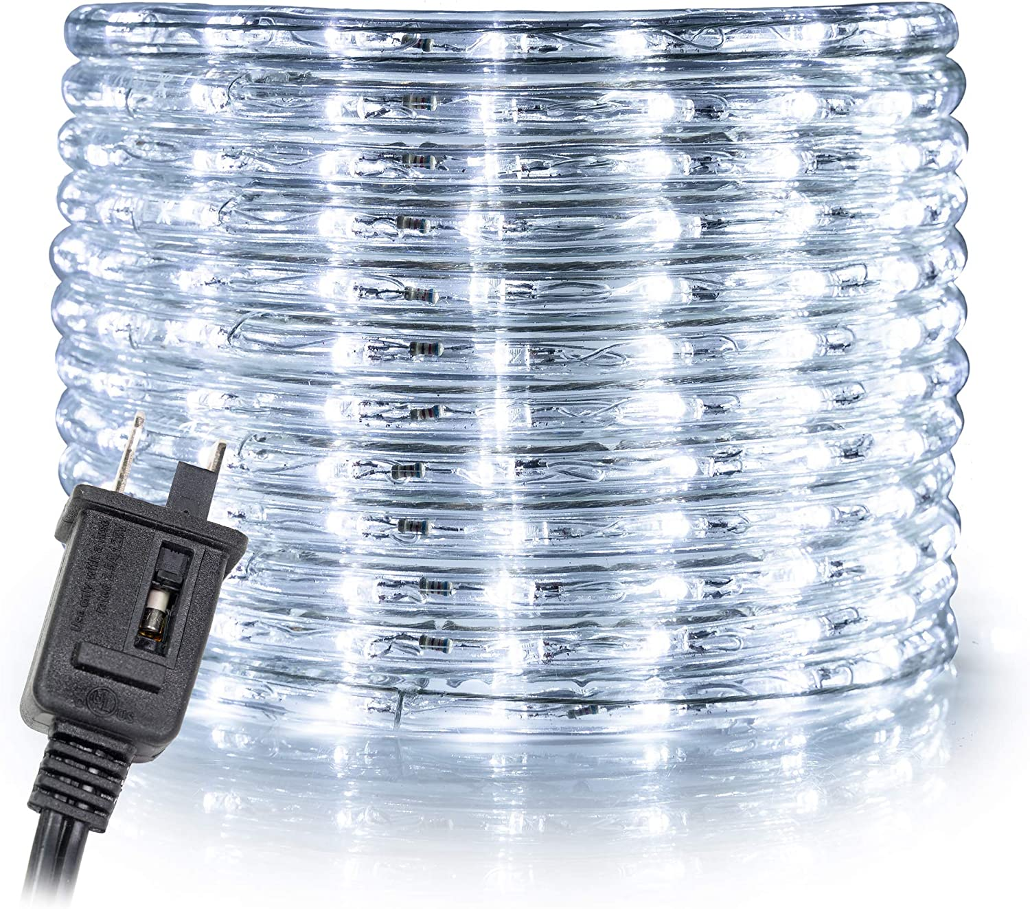 """WYZworks 150' feet Cool White 3/8"""" LED Rope Lights 