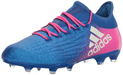 74665000542 adidas Men s X 16.2 FG Soccer Shoe Blue White Shock Pink (8 M