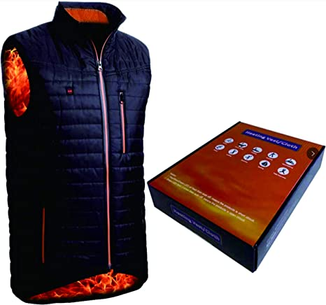 Electric USB Heating Coat Vest Jacket Heating Pad Cloth Body Warmer MenWomen Lot