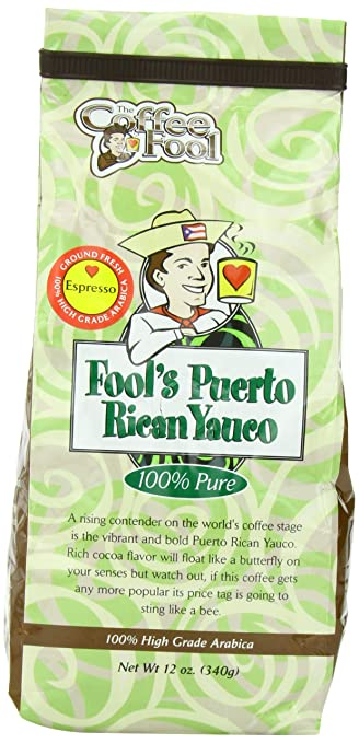 The Coffee Fool Espresso, Fools Puerto Rican Yauco, 12 Ounce