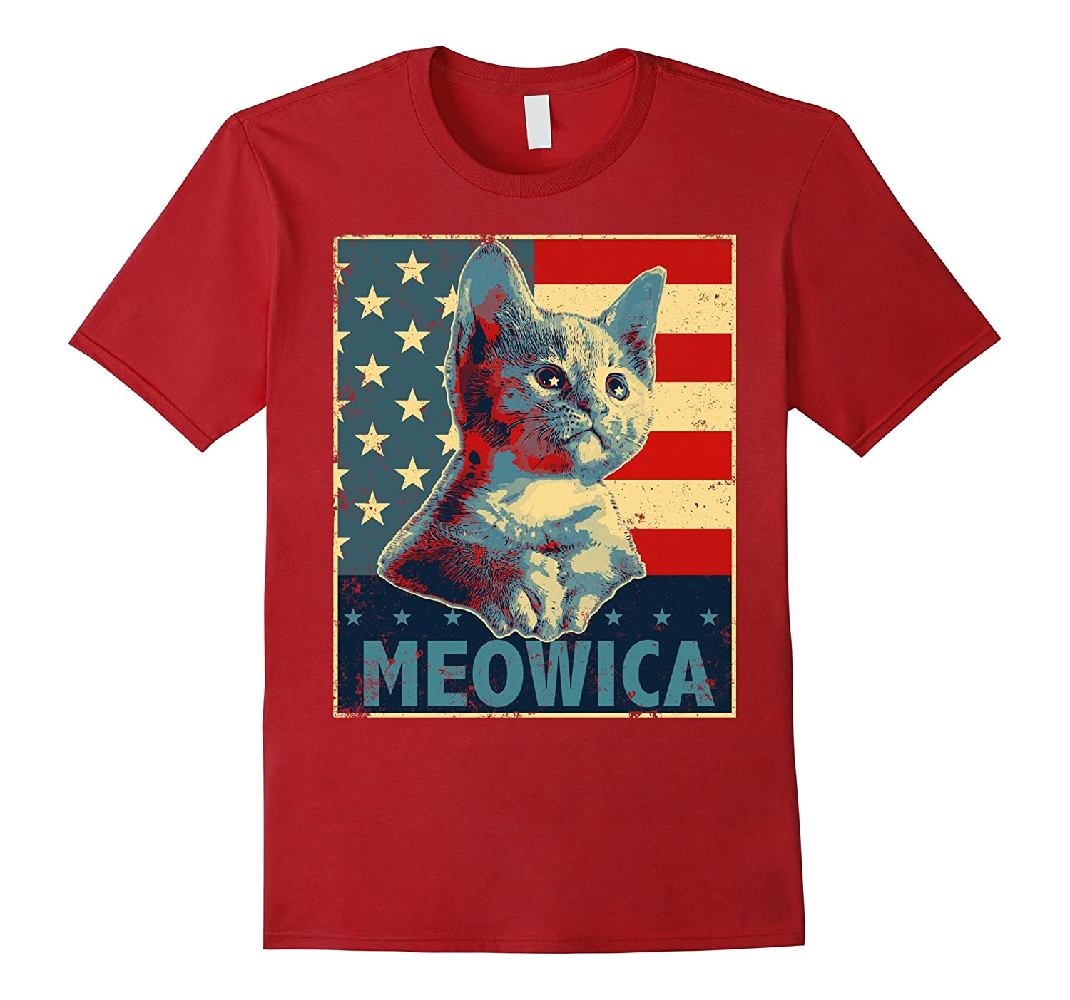 Meowica Fourth Of July Shirt Funny Cat Lover T Shirt Art