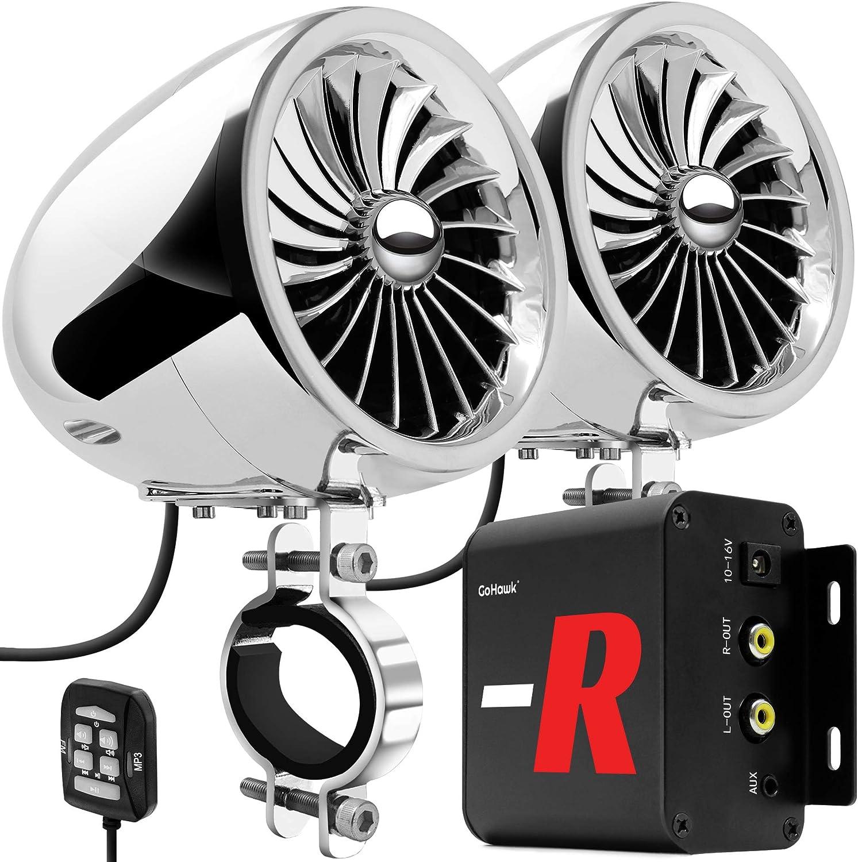 GoHawk Bluetooth Motorcycle Stereo Speakers