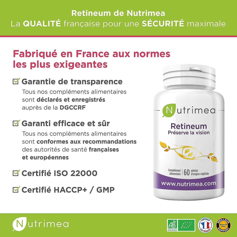 Retineum Nutrimea ○ Sinergia de activos para la prevención y la lucha contra los problemas de visión y DMAE ○ 60 Cápsulas vegetales: Amazon.es: Salud y ...