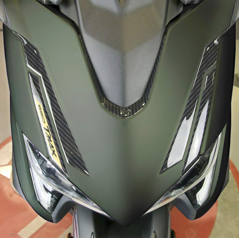 Carbone Or Kit Autocollant en Gel 3D pour Avant Scooter Compatible Yamaha Tmax 560 /à partir de 2020