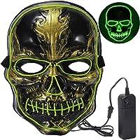 Máscara LED Halloween,Craneo Mascaras de Terror con 3 Modos para Halloween la Fiesta de Disfraces la Navidad Cosplay…