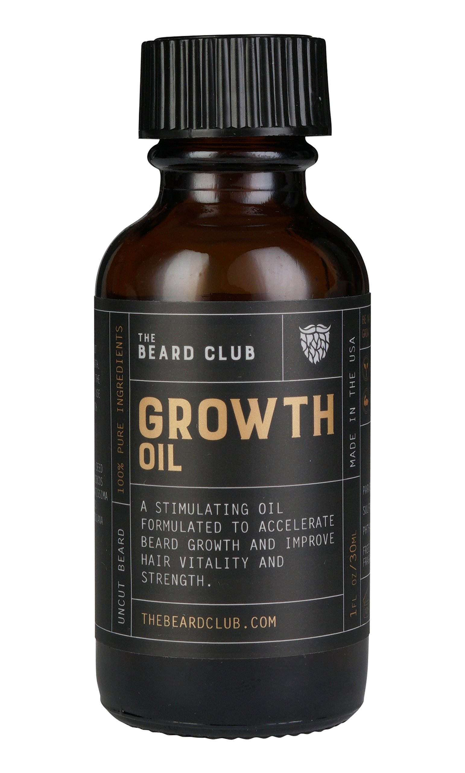 Beard Growth Oil | The Beard Club | #1 Selling Beard & Hair Growth Supplement