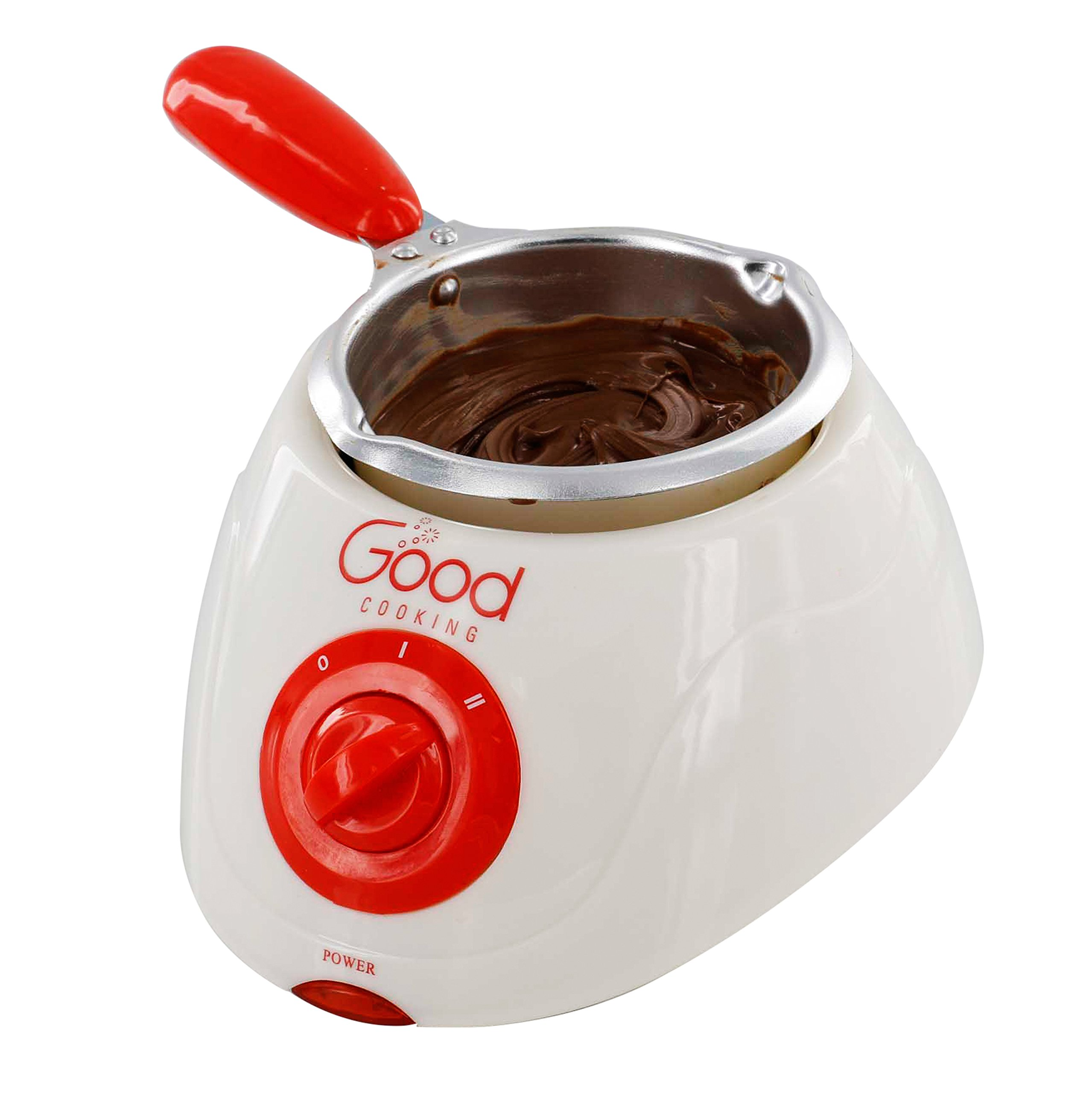 Chocolate Melting Pot- Electric Chocolate Fondue Fountain Pot with over 30 Free Accessories and 12 Recipes by Good Cooking (Image #3)