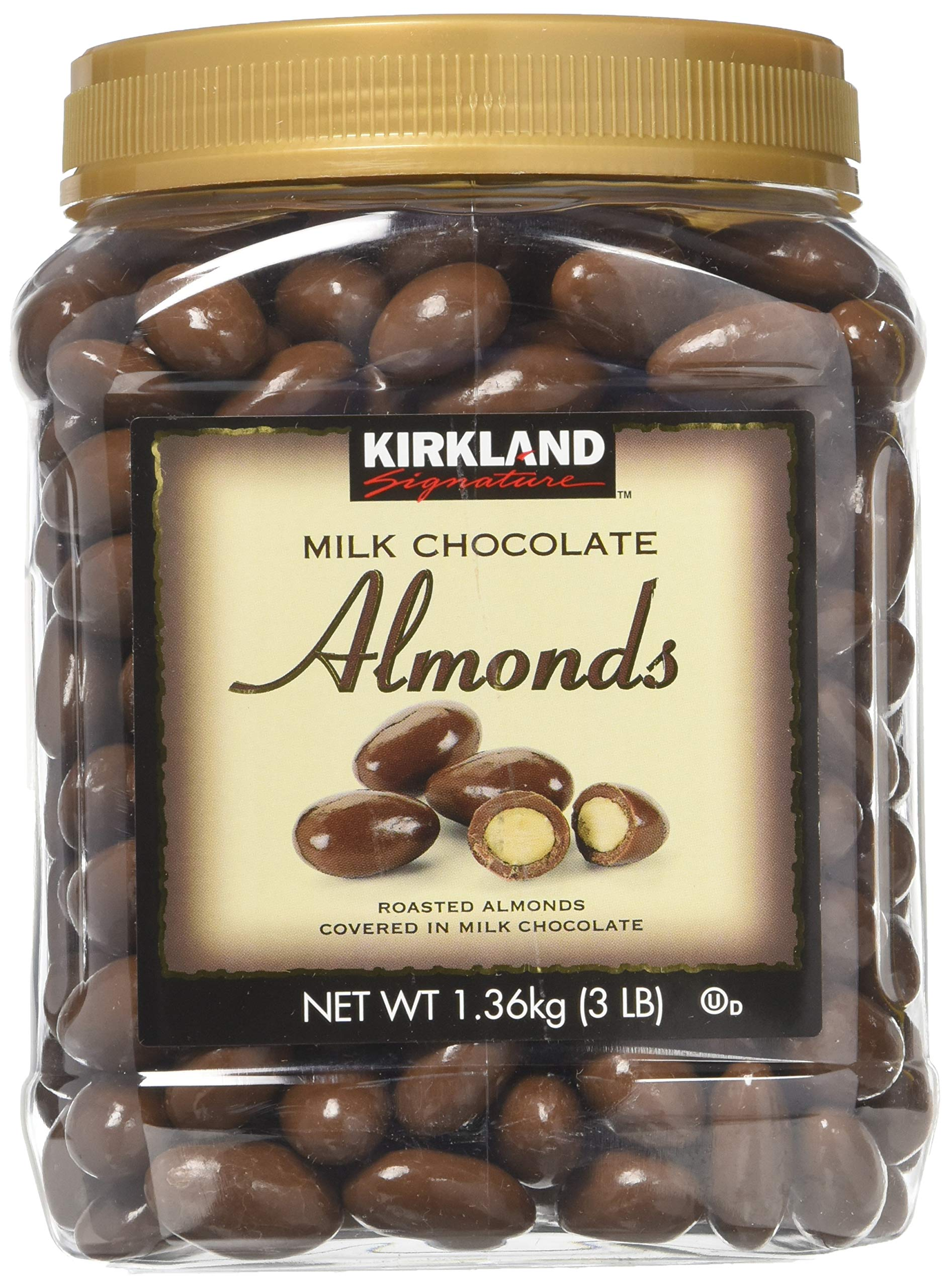Kirkland Signature Milk Chocolate Almonds 2 Pack JAR by Kirkland Signature