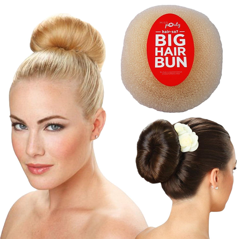 Hair-so? Massive 6 Inches Wide Big Hair Bun Extra Large Hair Doughnut Donut Bridal Wedding Hollywood Hair Style Bun Ring - Choose Colour- Brown, Black or Blonde (Blonde)
