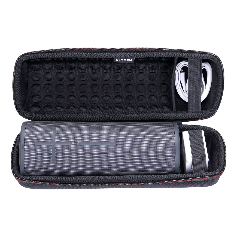 LTGEM トラベルキャリーケース Ultimate Ears UE MEGABOOM 3 ポータブルBluetoothワイヤレススピーカー用 USBケーブルと充電器に対応。 B07L4JB6BL