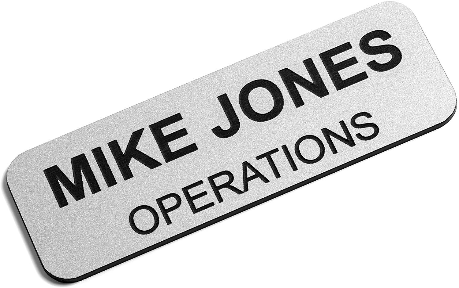 5 Employee Personized Name Tag Badge ID Badge Holder /&Stainless Steel Pin L
