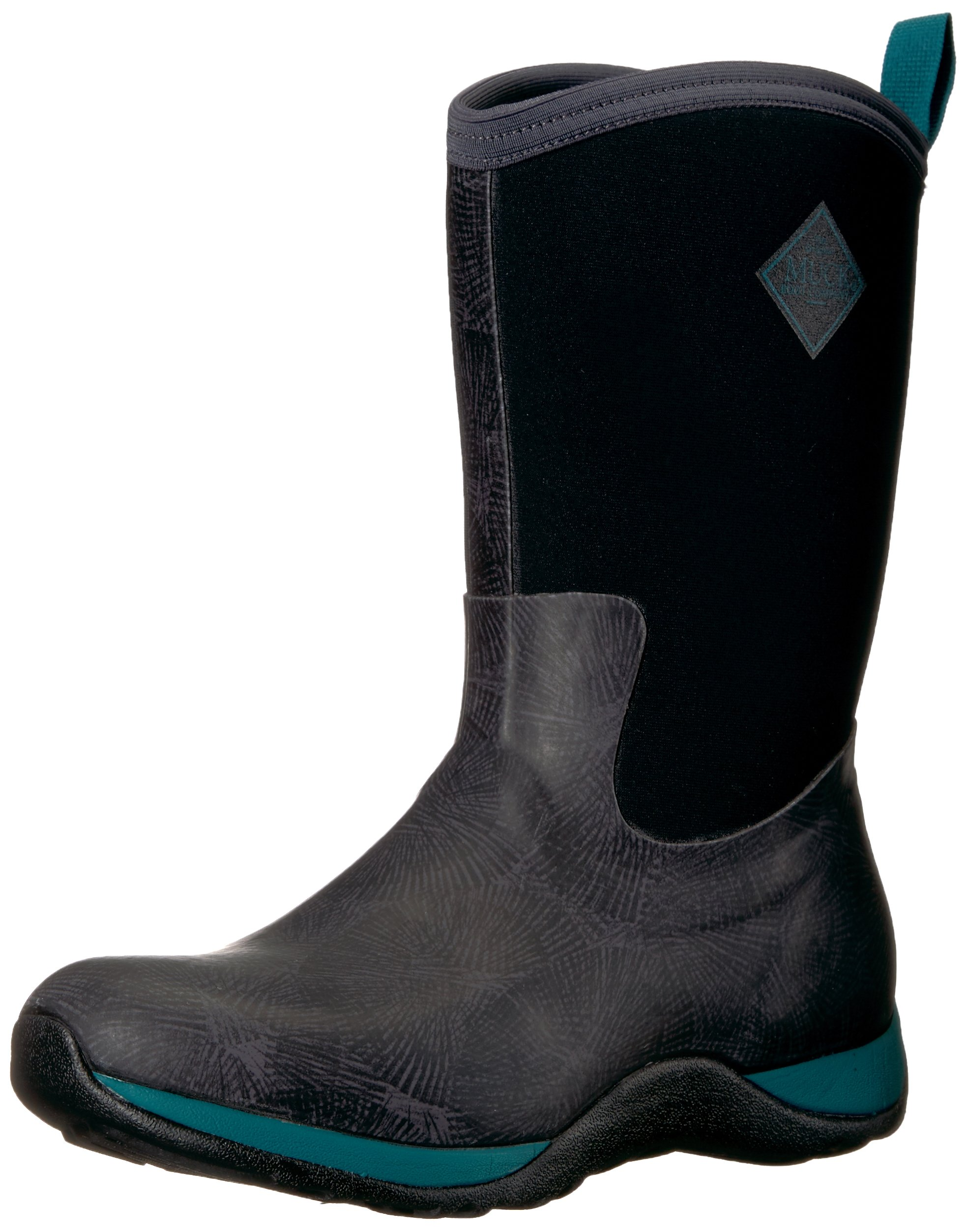 Muck Boot Women's Arctic Weekend Print Work Boot, Black, Gray, Spruce/Spiral, 6 M US