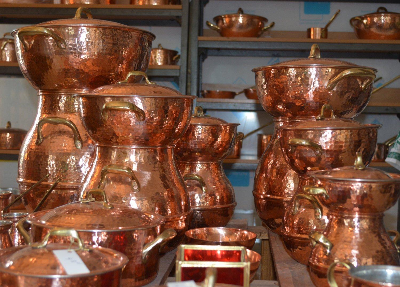 COPPER STEAMER POT - Hand hammered solid copper couscous pot -steamer pot - copper steaming pot (22 cm)