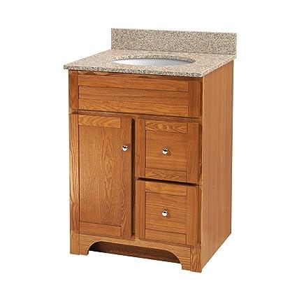 Foremost Wroa2421d Worthington 24 Inch Oak Bathroom Vanity