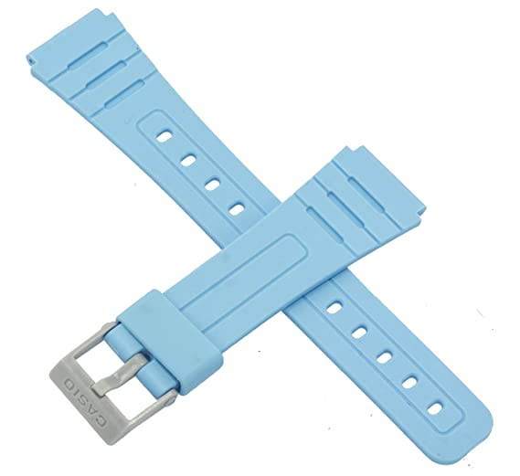 Correa para reloj Casio F-91WC-2A F 91WC 91, color azul brillante: Amazon.es: Relojes