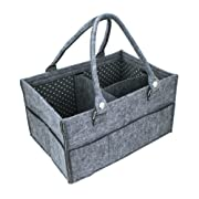Diaper Caddy Organizer - Baby Shower Gift Basket for Boy or Girl - Nursery Storage Bin - Diaper Car Caddy for Travel Wipes and Toys