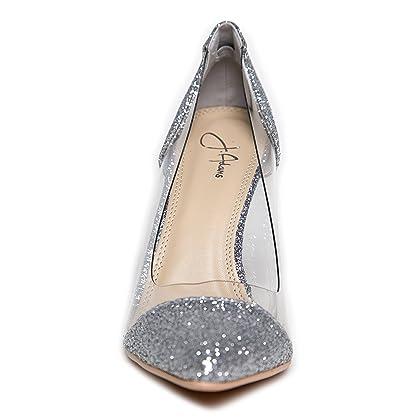 ac9bc325079 ... J. Adams Clear Pointed Toe Pump Heels