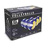 GoSports Indoor Competition Volleyball 6 Pack