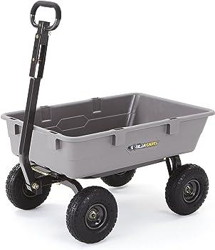 Gorilla 800 lb. Capacity Heavy-Duty Poly Garden Dump Cart