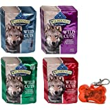 Blue Wilderness Trail Toppers Wild Cuts Dog Gravy Snacks Variety Pack with WoWing Pets Pendant