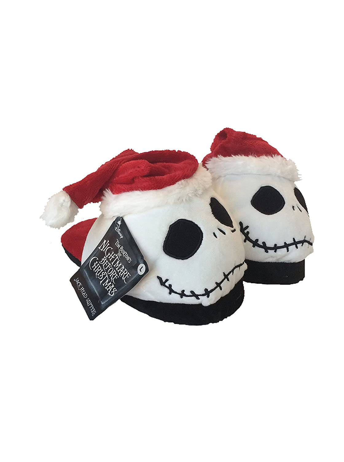 Amazon.com: Nightmare Before Christmas, Jack Head Slippers, Youth ...